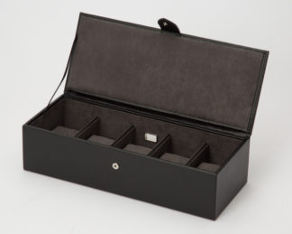 Wolf Blake 5 Piece Black / Grey Watch Box