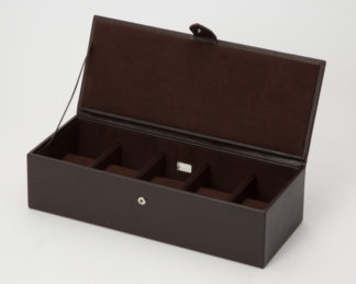 Wolf Blake 5 Piece Brown Leather Watch Box