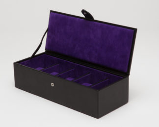 Wolf Blake 5 Piece Black / Purple Watch Box