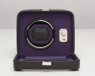 Wolf Windsor Purple Single Watch Winder with Cover