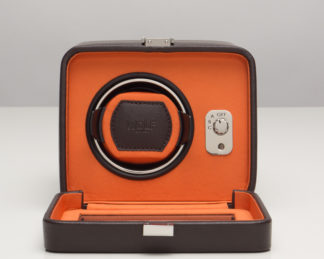 Wolf Windsor Orange Single Watch Winder with Cover