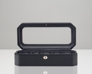 Wolf Windsor Black 5 Piece Watch Box