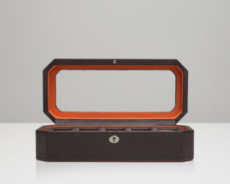 Wolf Windsor Orange 5 Piece Watch Box