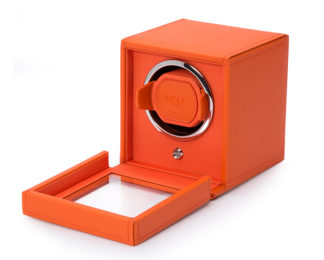 Wolf Cub Orange Watch Winder With Cover 461139