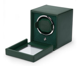 Wolf Cub Green Watch Winder With Cover 461141
