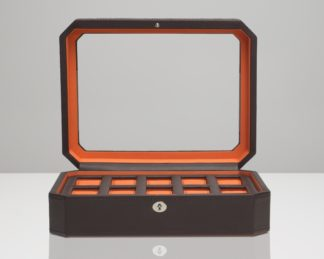 Wolf Windsor Brown 10 Piece Watch Box