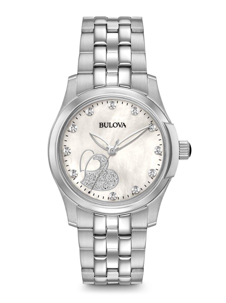 Bulova womens diamond watch 96p182 clock doctor for Woman diamond watches