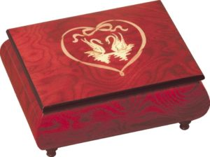 Swans Heart Music Box MAD415CLRDL