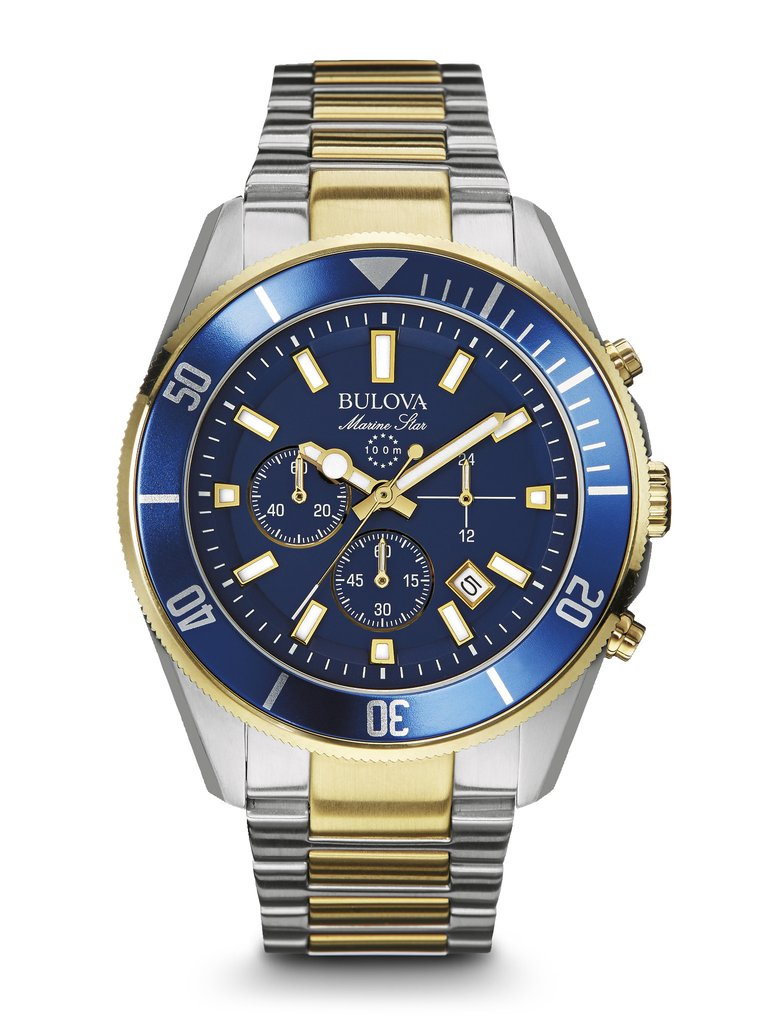 66751a8bfc3 Bulova Men s Marine Star Chronograph Watch 98B230