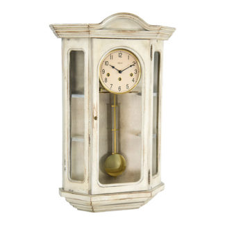 Hermle FAULKNER White Curio Clock 70305-WH0341