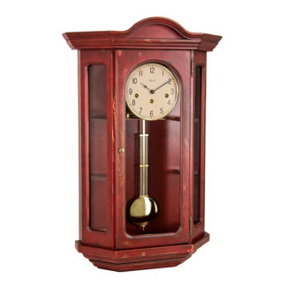 Hermle FAULKNER Red Curio Clock 70305-RD0341