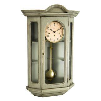 Hermle FAULKNER Gray Curio Wall Clock 70305-GY0341