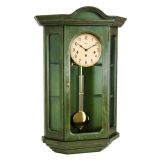 Hermle FAULKNER Dark Green Wall Clock 70305-DG0341