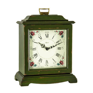 Hermle AUSTEN Dark Green Quartz Mantel Clock 22518-DGQ