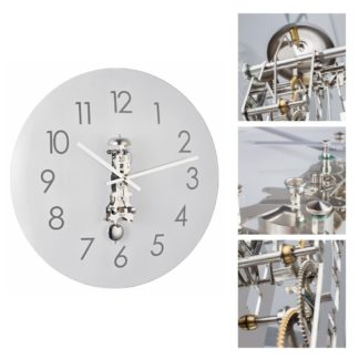 Hermle AVA Nickel Wall Clock 30906-000791