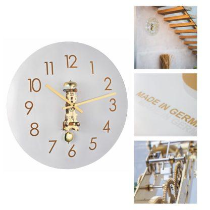 Hermle AVA Brass Wall Clock 30907-000791