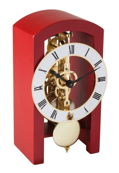 Hermle PATTERSON Red Mantel Clock 23015-360721