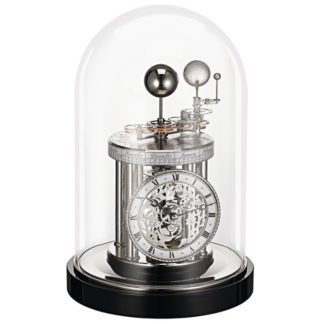 Hermle ASTROLABIUM II Black Nickle Mantel Clock 22836-742987