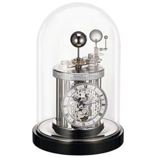 Hermle ASTROLABIUM II Black Nickle Mantel Clock 22836-742987