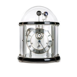 Hermle TELLURIUM II Black Silver Mantel Clock 22823-740352