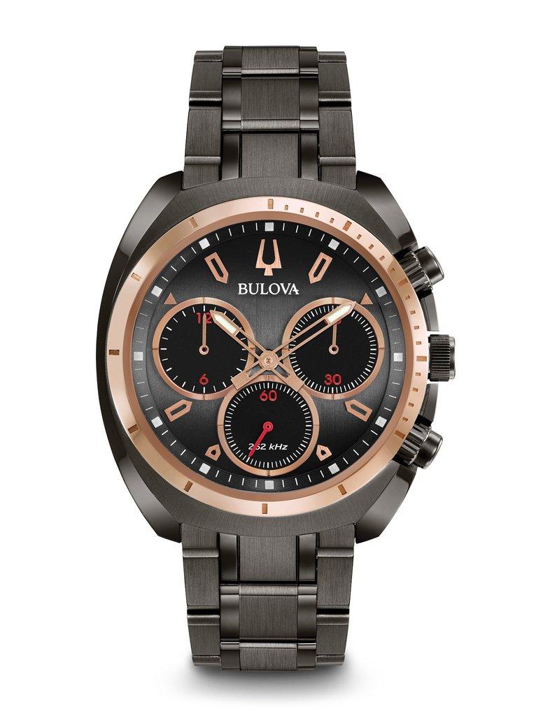 b886ed5d0 Bulova Men's Curv Chronograph Watch 98A158 | Clock Doctor