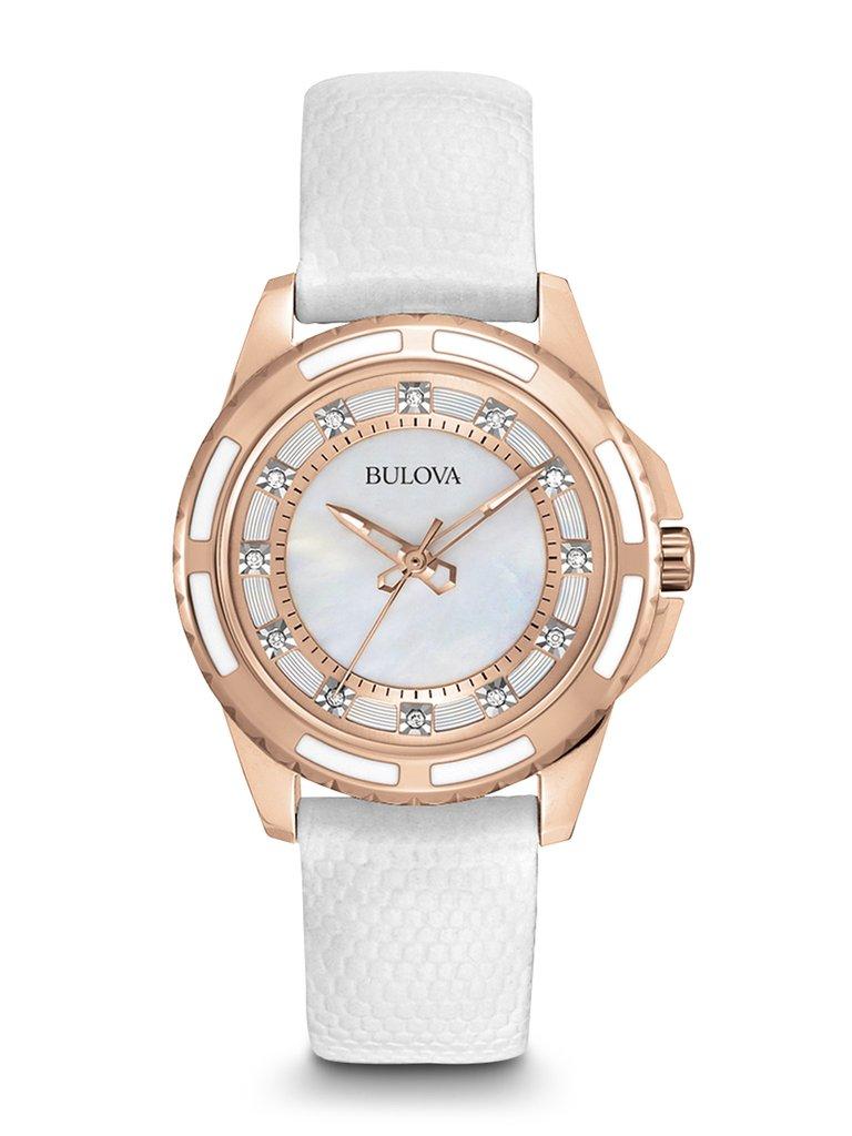 Bulova women 39 s classic diamond watch 98p119 clock doctor for Woman diamond watches