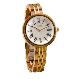 Jord Cassia Zebrawood Womens Watch J045Q02W