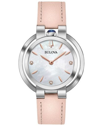 Bulova Rubaiyat Pink Womens Watch 96P197
