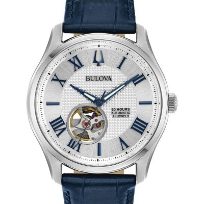 Bulova Automatic Blue Mens Watch 96A206