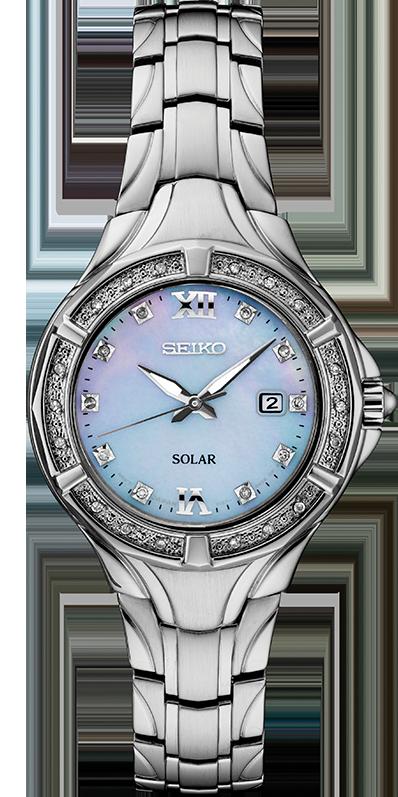 Seiko Diamond Womens Solar Watch SUT371