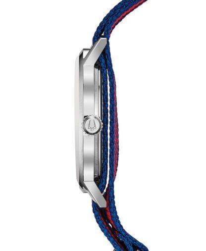 Bulova Aerojet Blue & Red Strap Watch 96B314
