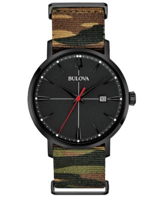Bulova Aerojet Camouflage Strap Watch 96B336