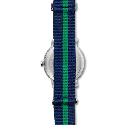 Bulova Aerojet Blue & Green Strap Watch 96B316